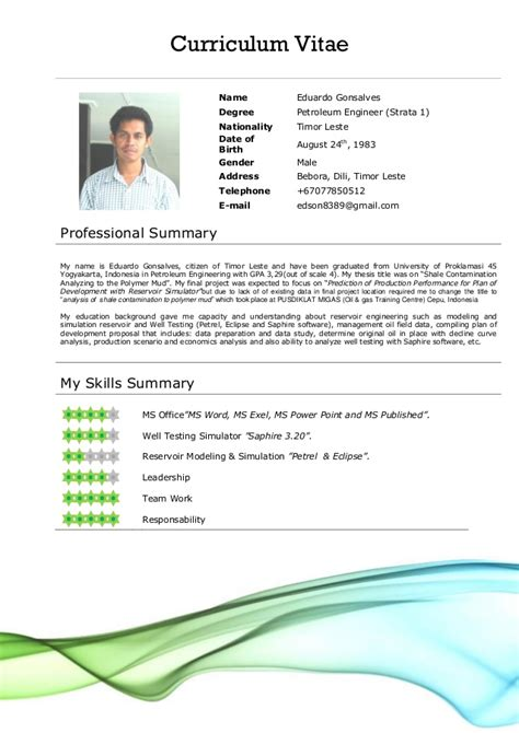 Best Resume Template App by Cv Format