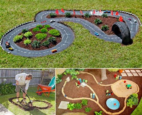 how to build a backyard garden backyard diy race car tracks your will instantly