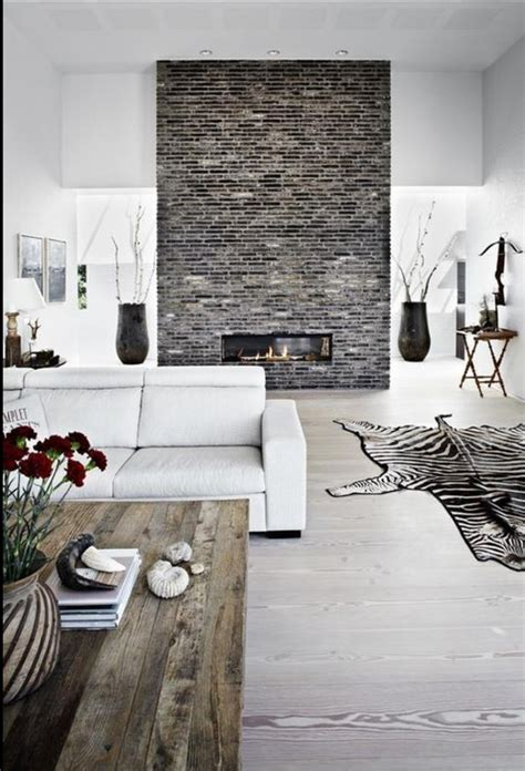 Living Room Brick Fireplace by The Brick Feature Wall Focal Point For This Scheme