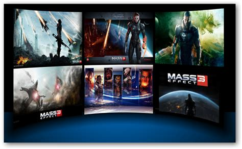 themes games for windows 7 mass effect 3 windows 7 theme