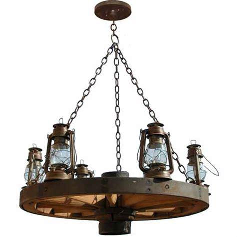 rustikaler kronleuchter wagon wheel chandelier western america 1800 s