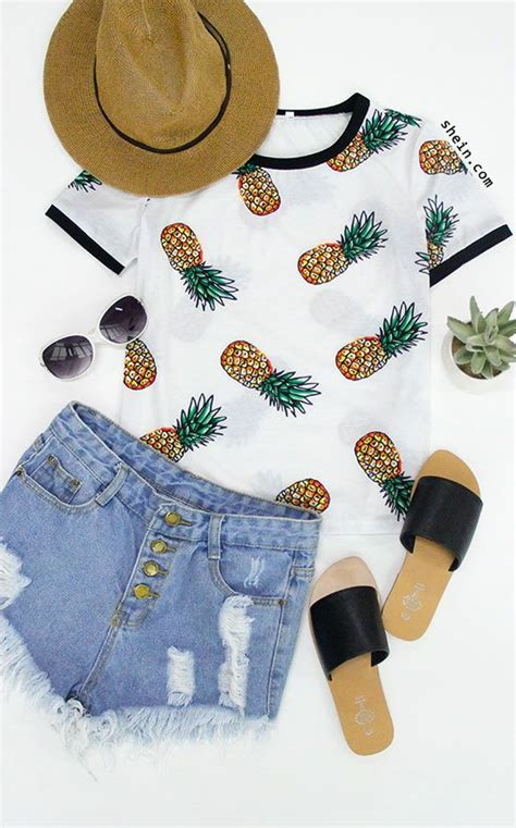 Sleeve Fruit Print T Shirt multicolor sleeve fruit print t shirt ropa