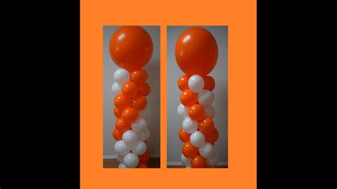 How to make a balloon column for spiral balloon decorations pattern series part 2 double and