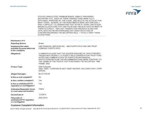 Finra Arbitration Search Wilson Dennis Colberg Trigo Finra Brokercheck Report
