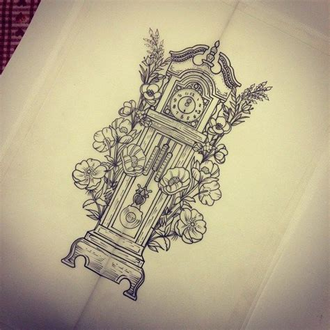 grandfather clock tattoo designs 25 best ideas about grandfather clock on