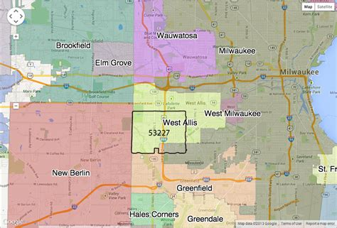 zip code map milwaukee google maps how to avoid getting different city in