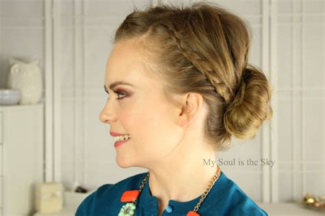 front hairstyles with a bun front french braids to bun missy sue