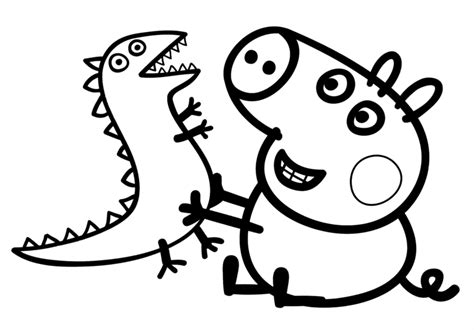 Peppa Pig Colouring Pages For Kids The Pig Coloring Pages