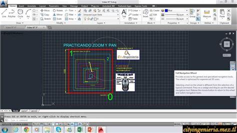 comando zoom autocad layout autocad 2014 5 15 comandos zoom y pan youtube