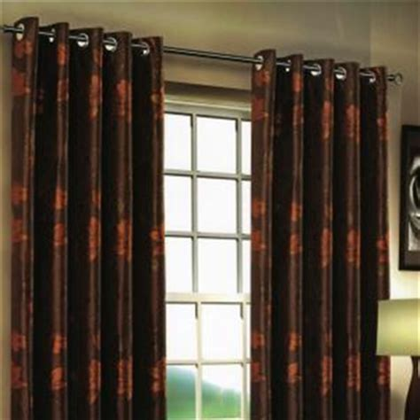 brown orange curtains orange and brown curtains stylish ring top curtain pair