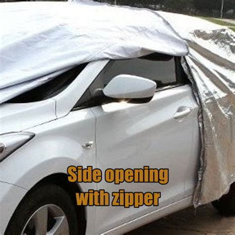 Protection Cover For Car Suv Size L Use Indoor l 3 layers car cover with zipper suv aluminum dust uv protection ebay