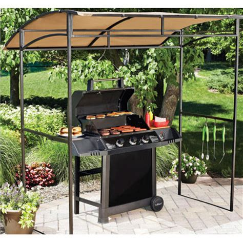 Grill Awnings by Mainstays Curved Grill Shelter Replacement Canopy Garden Winds