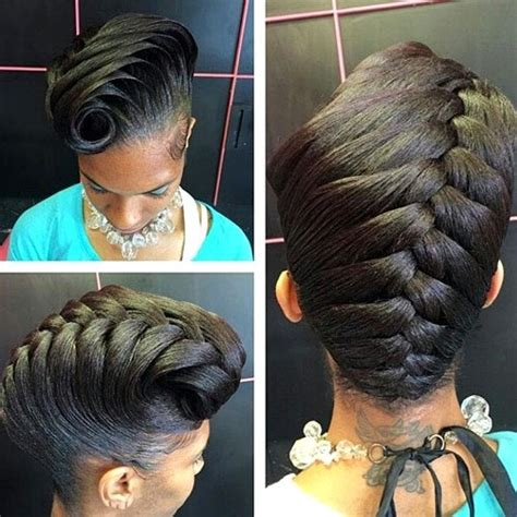 french braid for military 40 cute updos for natural hair