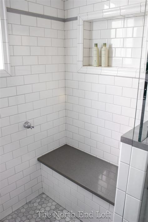White Subway Tile Bathroom by The End Loft Master Bathroom Reveal