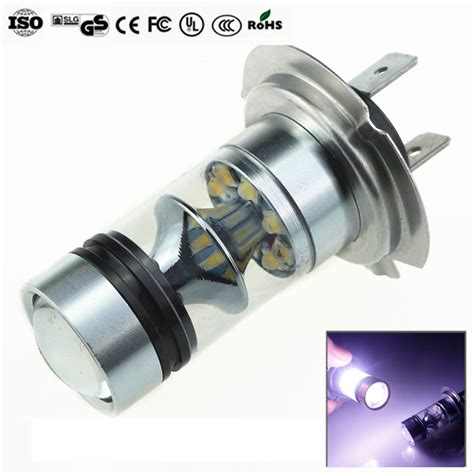 h7 le 2x 100w h7 led bulb 20 smd cree car fog light dc 12v 24v