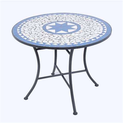 Mosaic Patio Table by Ellister Palermo Mosaic Patio Table 80cm On Sale Fast