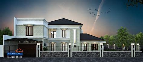 desain rumah tropis  lantai  lahan hook ukuran