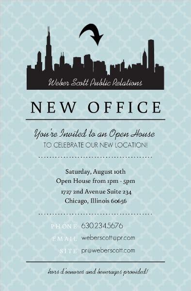 design open house invitation blue skyline open house invitation business open house