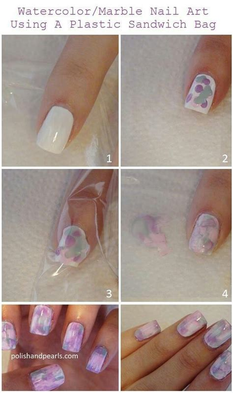 watercolor manicure tutorial watercolor marble nails nail makeup and hair pinterest