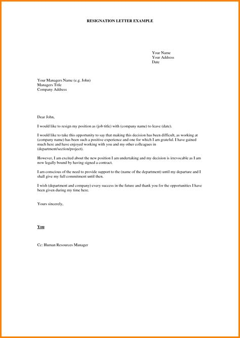 Writing A Resignation Letter For Work by 8 How To Write A Resignation Letter For Work Letter Format For