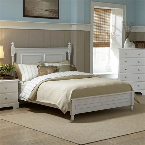 White Cottage King Bedroom Furniture by Cottage White Low Post Finials Wood