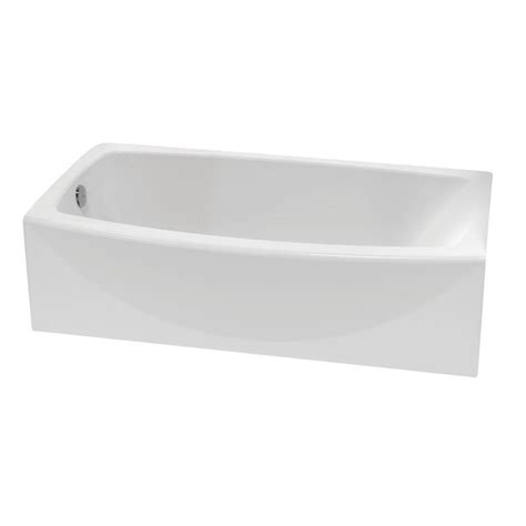 bathtub american standard american standard ovation 5 ft left hand drain bathtub in arctic white 2647 212 011