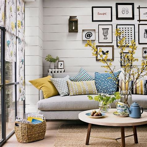 Deko Tipps 5802 by White Yellow And Blue Living Room My Nest