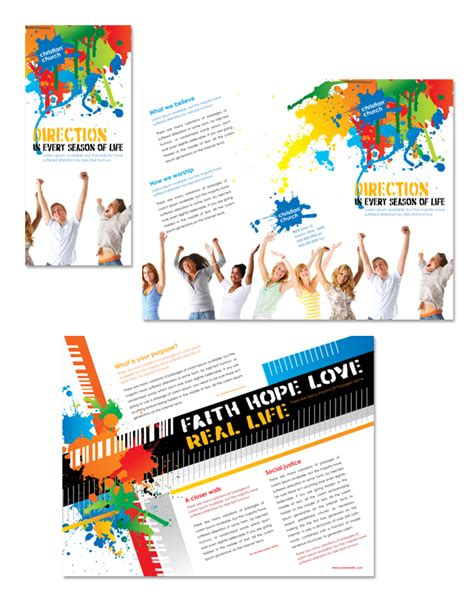 Christian Church Youth Ministry Tri Fold Brochure Template Dlayouts Graphic Design Blog Youth Flyer Template Free