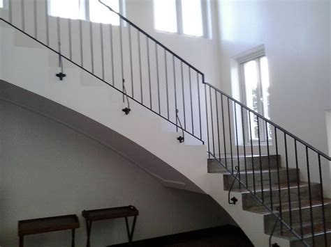 Iron Grill Design For Stairs Stair Railing Simple Design Cavitetrail Glass Railings Philippines Tempered Glass Wrought
