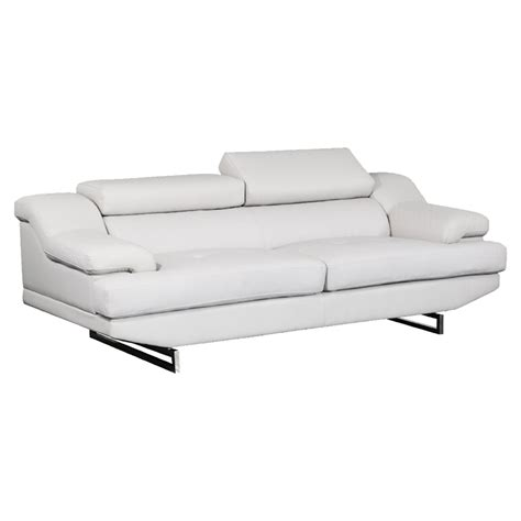 sofa global sofa in light gray leather dcg stores