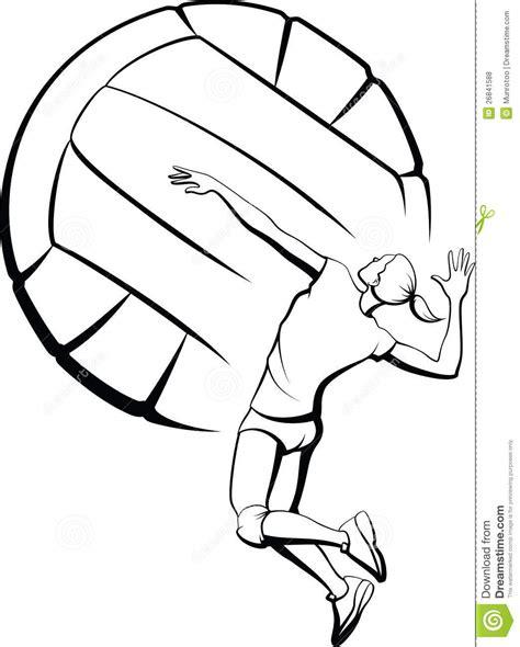 clipart pallavolo chiodare della ragazza di pallavolo illustrazione