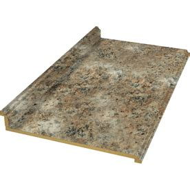 Lowes Countertops In Stock by Shop Belanger Laminate Countertops 8 Ft Madura Gold