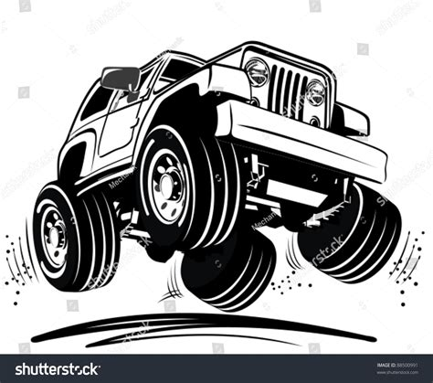 jeep caricature vector jeep stock vector 88500991