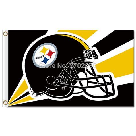 pittsburgh steelers helmet flag 3ft x 5ft black yellow