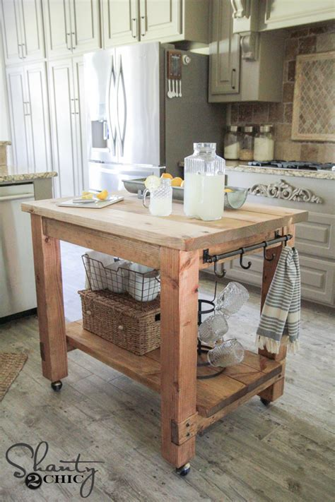 Mobile Kitchen Island Plans Diy Kitchen Island Free Plans
