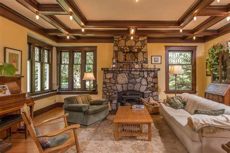 Craftsman Living Room by Craftsman Living Room With Flush Light Box Ceiling In