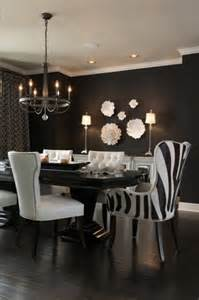 Black Dining Rooms by Black And White Dining Room Contemporary Dining Room