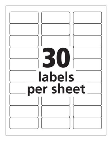 avery 30 label template 900 maco ml 3000 blank large return address labels 30 per