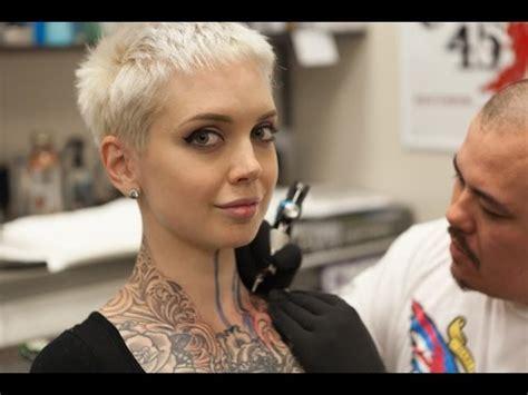tattoo removal virginia beach x gets throat tattooed with carl fuchs at 5