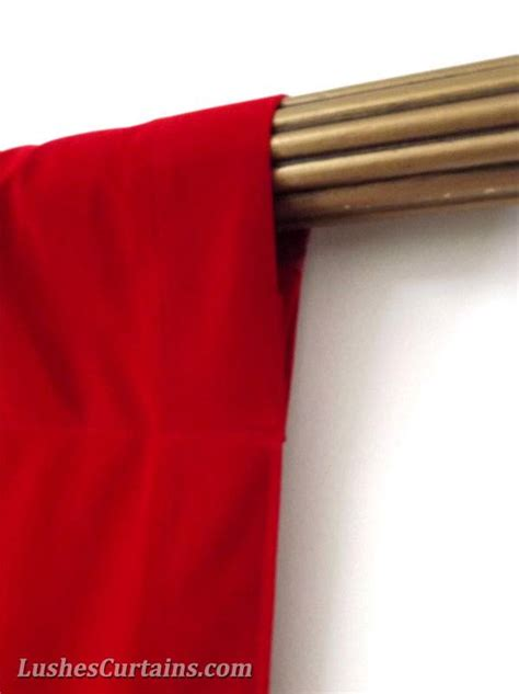 bright red curtain panels window treatment bright red rod pocket curtain topper