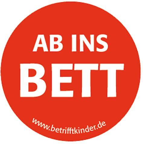 Ab Ins Bett Button