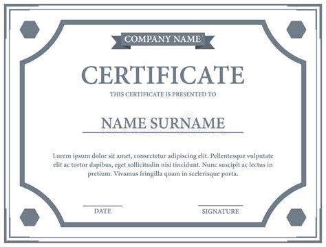 certificate paper template certificate template stock vector image 61288210