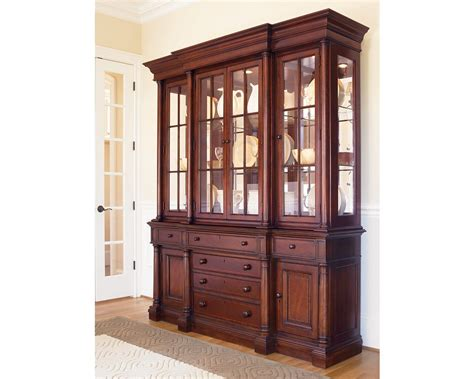 Thomasville China Hutch breakfront china cabinet dining room furniture thomasville furniture