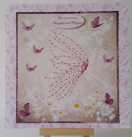 Card Inserts For Handmade Cards - sympathy pink butterfly topper insert verse photo by