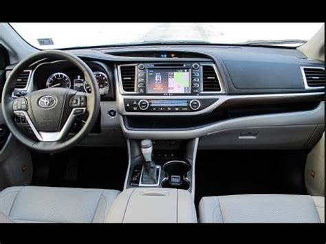 2016 toyota highlander interior youtube