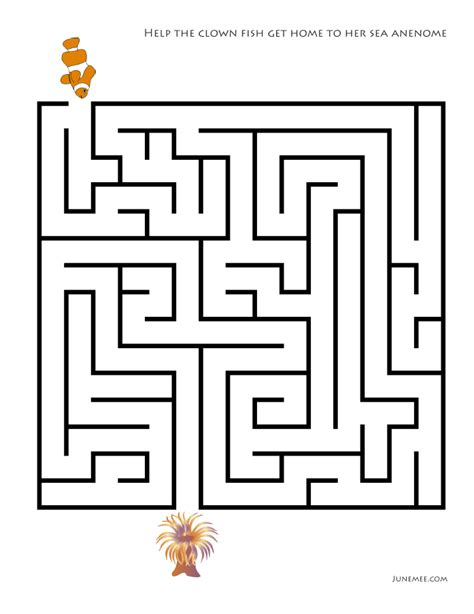 diy mazes for kids free download templates june mee