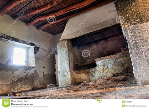 hutte africaine interieur inside abandoned house stock photo image 6735044
