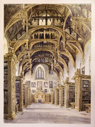 interior view   library  lambeth palace showing