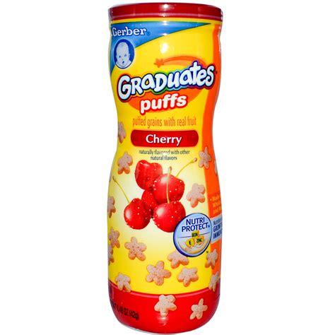 Gerber Puffs gerber graduates puffs cherry 1 48 oz 42 g iherb