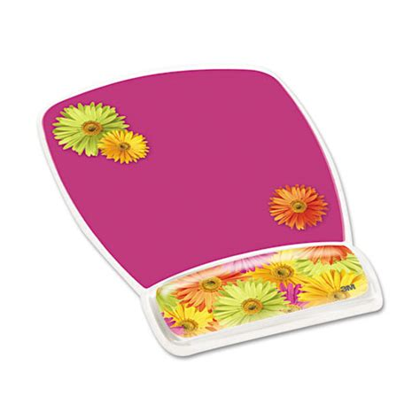 Clear Mouse Mat by Design Clear Gel Mouse Pad Wrist Rest By 3m Mmmmw308ds